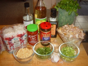 Ingredients: Spicy Asian Noodles with Chicken