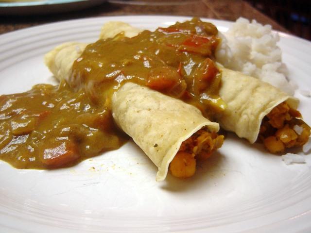 """Hmmm, kind of like Indian enchiladas,"" my husband said."