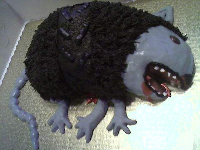 Armadillo Roadkill Cake