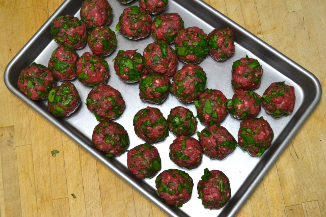 Meatballs ready for the stove