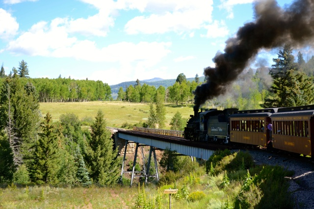 Train in Chama, NM