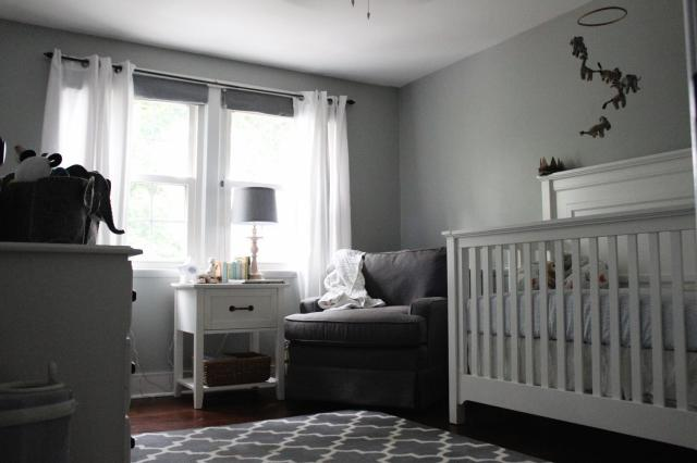 contemporary-ideas-rugs-for-baby-boy-nursery-white-wooden-crib-couch-set-on-corner-beside-lamp-desk-also-sliding-curtain-window